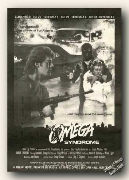 Omega Syndrome Movie Rare (1986)