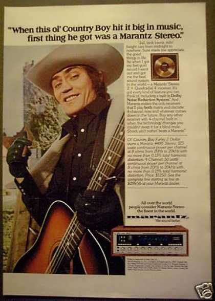 Marantz Stereo Cowboy Farley J. Dollar (1975)