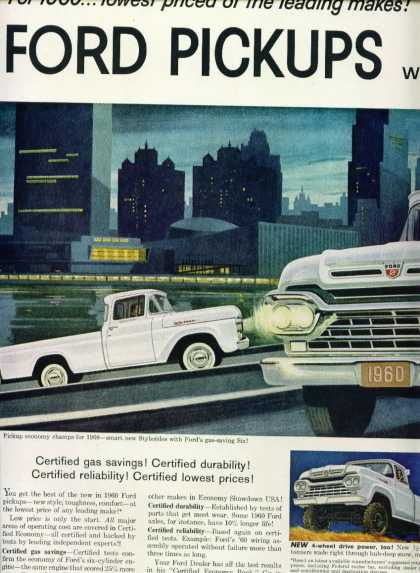 Ford Pickup Trucks 2 Page Not Attached (1960)