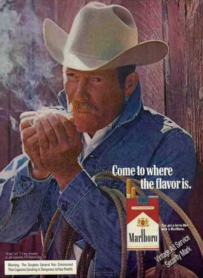 Marlboro Man Smoking Collectible (1974)