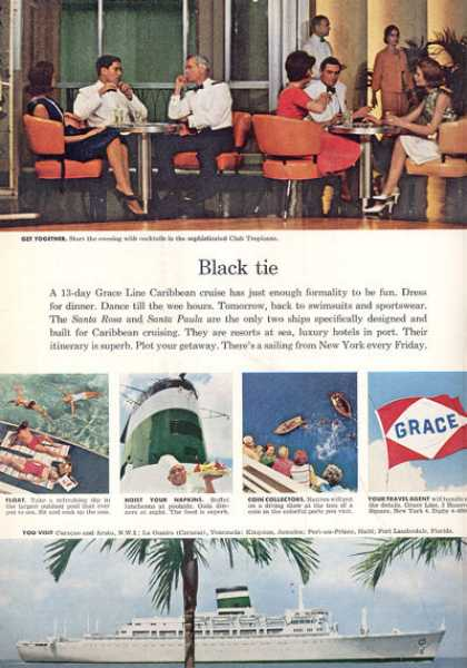 Grace Cruise Line Ship Boat Printad (1963)