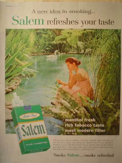 Salem Cigarettes Smoke refreshed (1957)