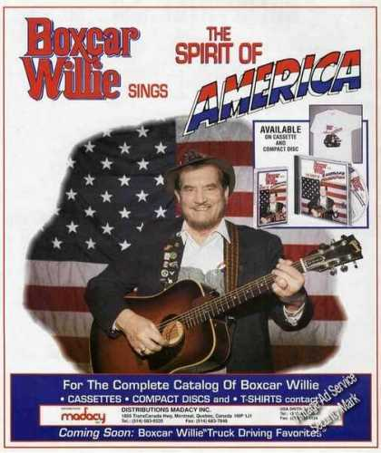"Boxcar Willie Sings ""Spirit of America"" Music (1991)"