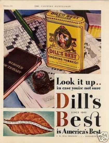 Dill's Best Smoking Tobacco Color (1931)