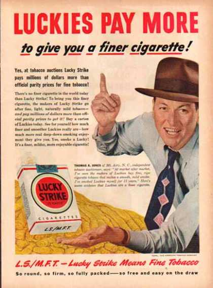 Lucky Strike Cigarettes – Mt. Airy, N.C. (1949)