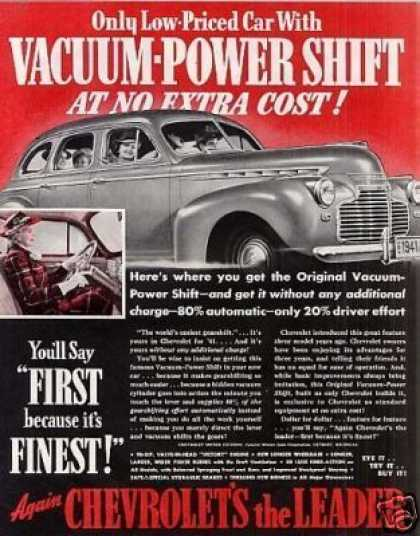 "Chevrolet Car Ad ""Vacuum-power Shift... (1941)"