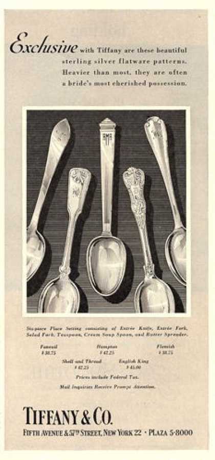 Tiffany & Co Sterling Silver Ware (1951)