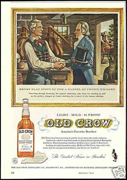 Old Crow Whiskey Henry Clay Vintage (1958)
