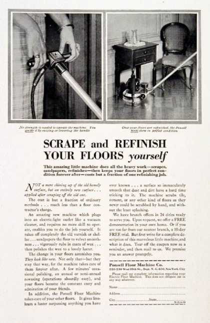 Ponsell Floor Machines (1930)