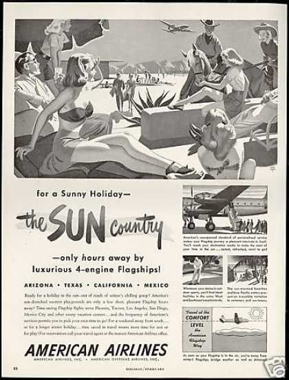American Airlines Sun Country Holmgren Art (1948)