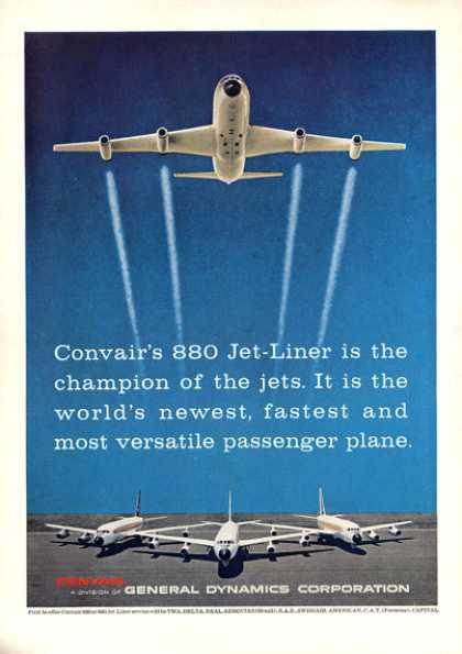 General Dynamics Convair 880 Plane Jet (1960)