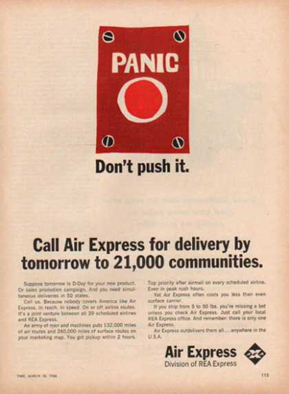 Air Express – Panic Button, Air Freight – Sold (1966)