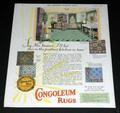 Congoleum Rugs, Gold (1929)