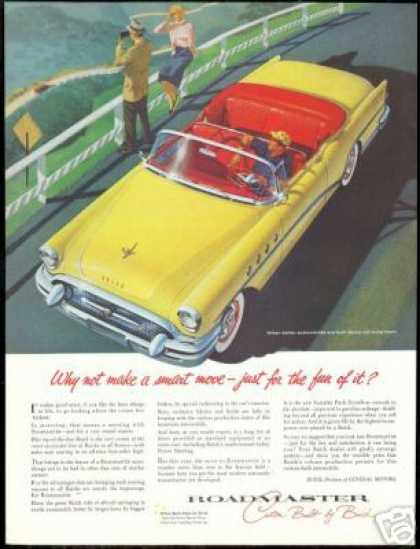 Buick Roadmaster Convertible Vintage Print Car (1955)