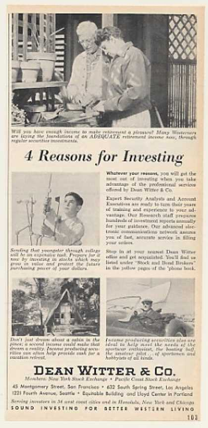 Dean Witter & Co 4 Reasons for Investing (1962)