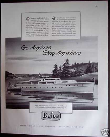 Boats Yachts By Defoe Shipbuilding Co. (1946)