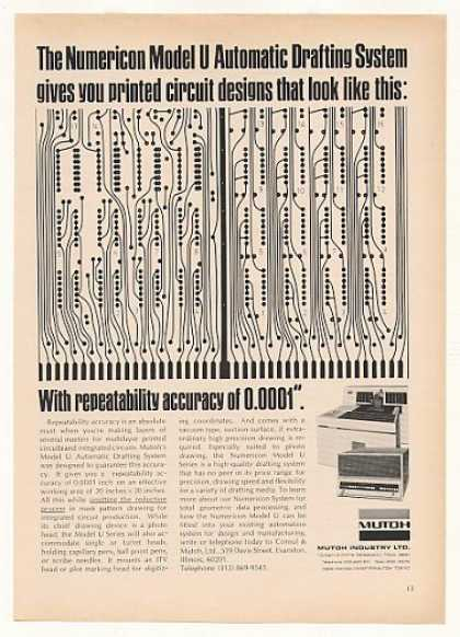 Mutoh Numericon Model U Printed Circuit Design (1970)