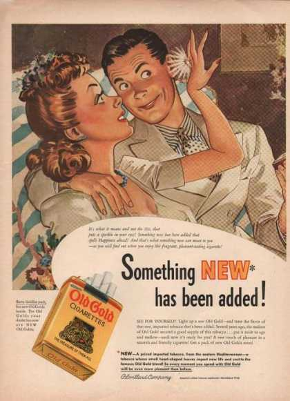 Something New Old Gold Cigarettes (1941)