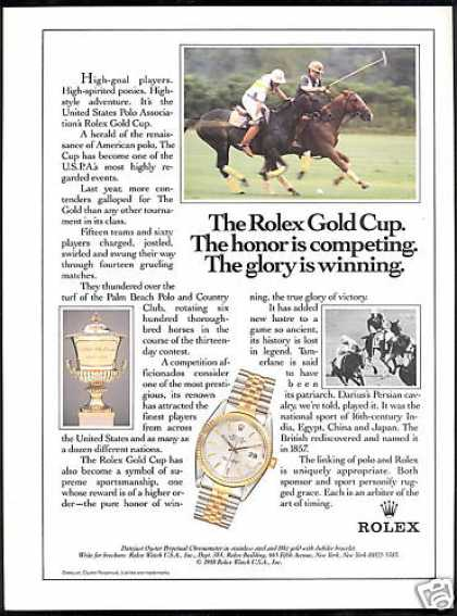 Rolex Gold Cup Polo Association Datejust Watch (1988)