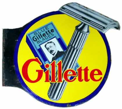 Gillette Razor Blades Sign