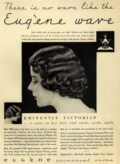 Eugene, Ltd.'s Eugene permanent waves – There is no wave like the Eugene wave (1933)
