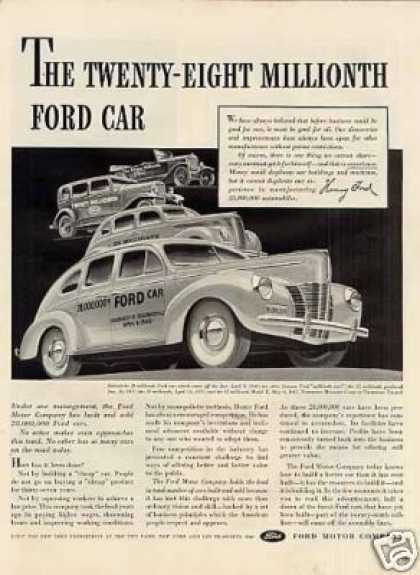 "Ford Car Ad ""The Twenty-eight Millionth... (1940)"