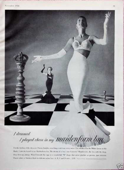 Maidenform Bra Dreamed I Played Chess Board (1956)