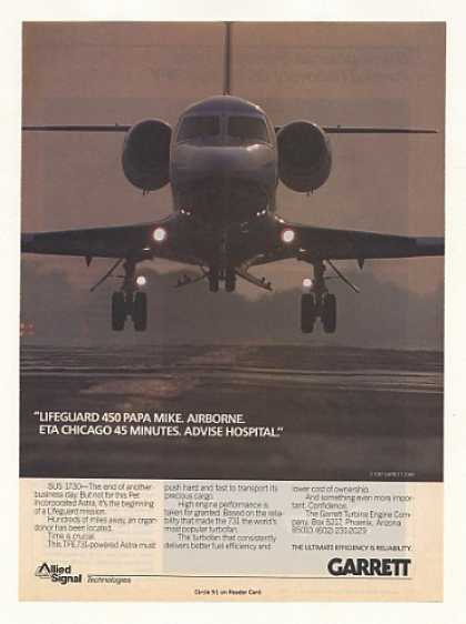 Pet Inc Astra Aircraft Garrett Turbofan Photo (1987)