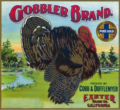 Exeter, California, Gobbler Brand Citrus Label