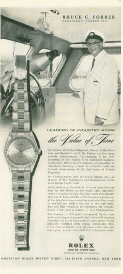 Rolex Perpetual Watch Bruce Forbes (1958)