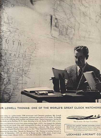 Lockheed's Lowell Thomas (1956)