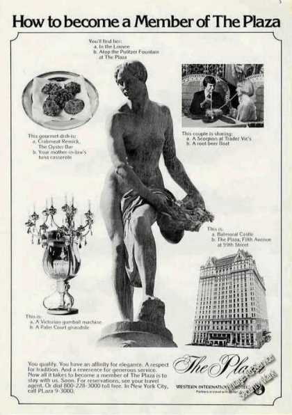 How To Become Member the Plaza Statue (1975)