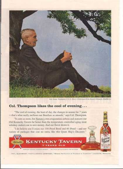 Kentucky Tavern Frank Thompson Whiskey (1957)