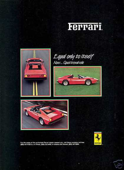Great Red Ferrari 3 photo Car (1984)