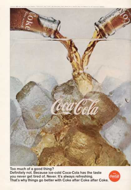 Coke On Ice Coca Cola Bottles Print (1966)