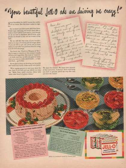 Jello Six Delicious Flavors Receips Print (1944)