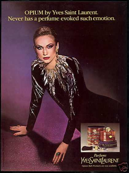 YSL Opium Perfume Evokes Emotions Photo (1980)