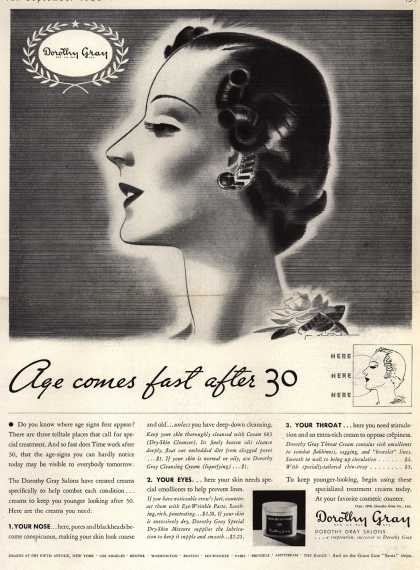 Dorothy Gray – Age comes fast after 30 (1936)
