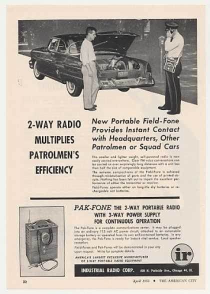 Industrial Pak-Fone 2-Way Port Radio Patrolman (1955)