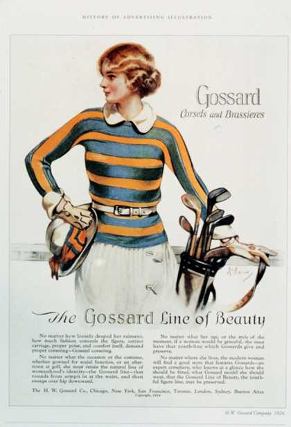 Gossard, Womens Underwear Golf, USA (1920)
