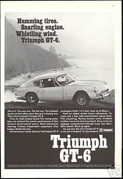 Triumph GT-6 GT6 Fastback Car Photo Vintage (1967)