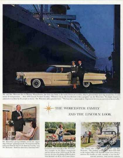 Lincoln By Ocean Liner Mr. & Mrs. Worcester (1958)
