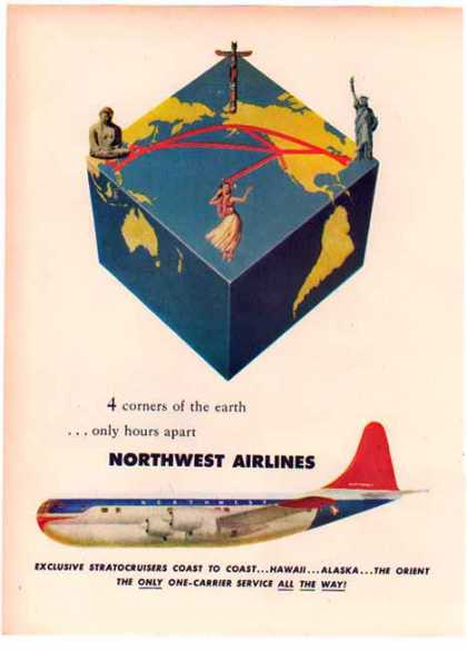 Northwest Airlines 's – Four Corners of the Earth – Sold (1950)