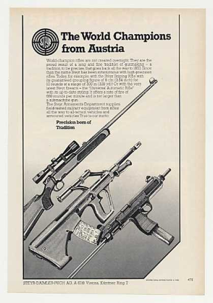 Steyr Sniping Universal Automatic Rifles (1980)