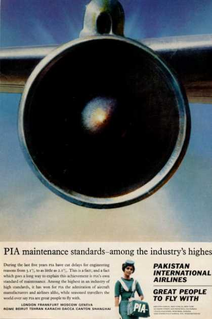 Pia Pakistan International Airlines Stewadess (1965)