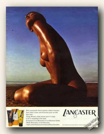 Lancaster Sun Tan Lotion French Language (1972)