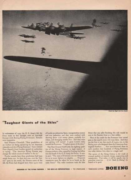 Toughest Giants of the Skies Boeing Print (1944)