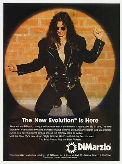 Steve Vai DiMarzio Evolution Photo (1993)
