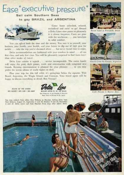 Delta Line Cruises To Brazil & Argentina Photos (1961)