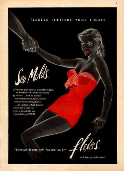 Flexees Sea Molds Swimsuit Fashion Art (1952)